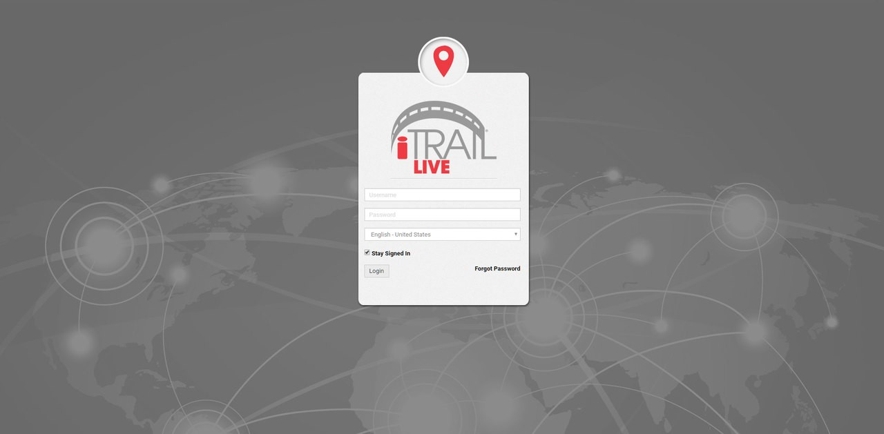 iTrail® Live Web Tracking Platform Login