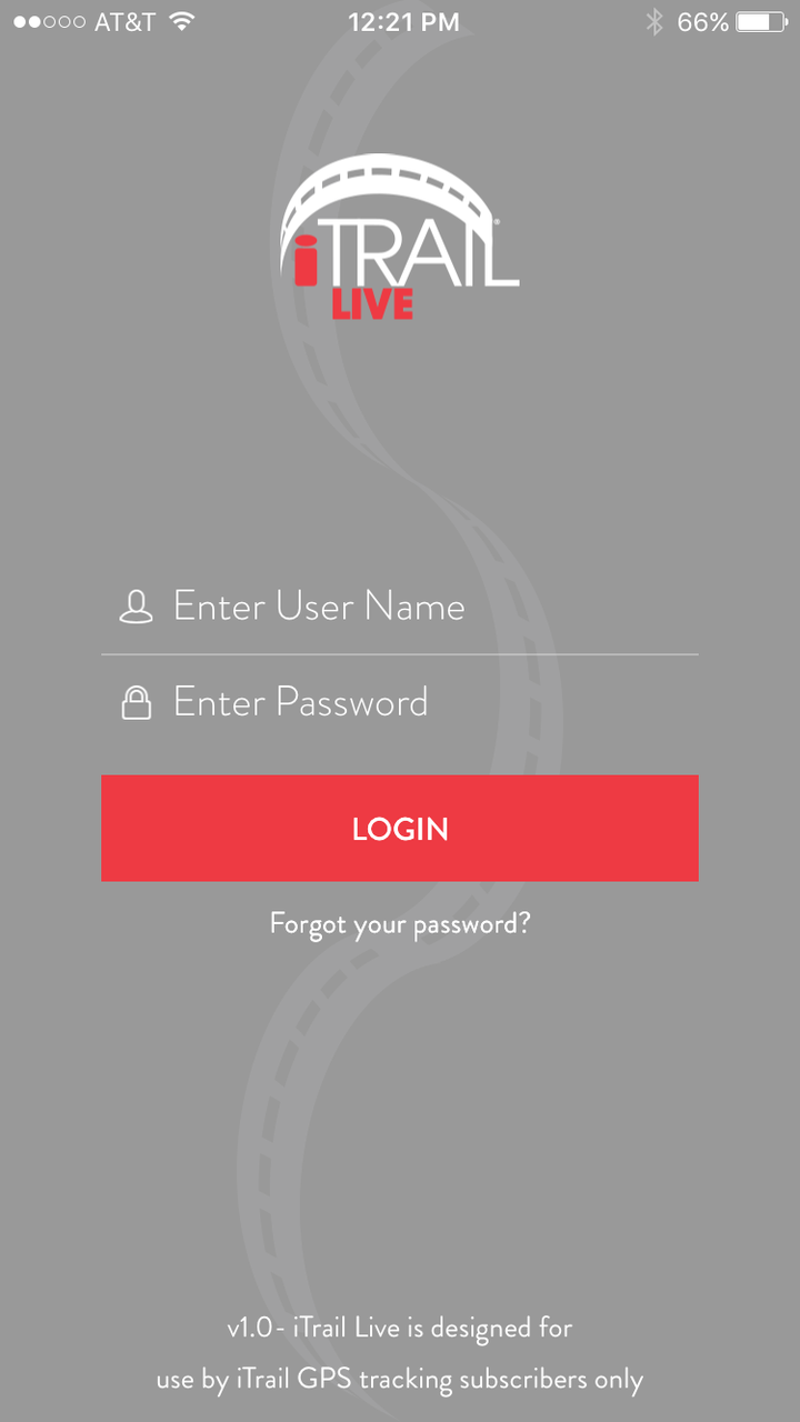 iTrail® Live Mobile Login