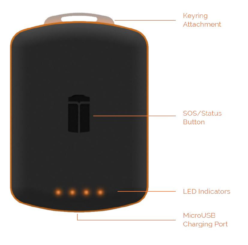 iTrail Button 4G GPS Tracker Diagram