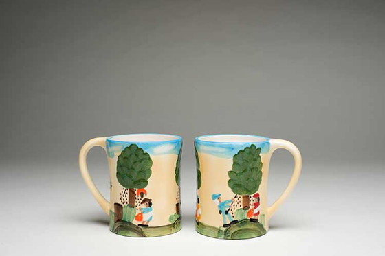 Pecan Picking Mugs.