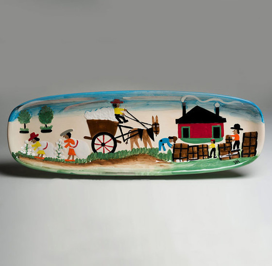 Cotton Mural Serving Piece.