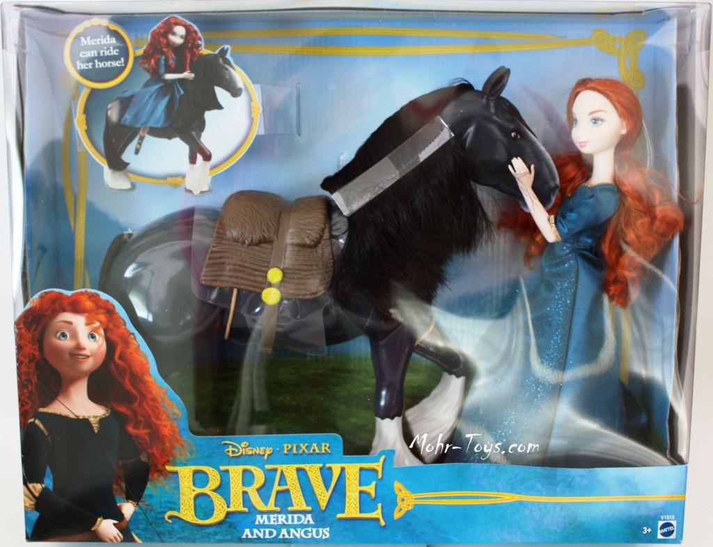 2012 disney pixar's brave, princess merida & angus dolls play set