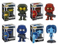 Halo 4 Set of 4 Figures, #3 Master Chief, #4 Red & #5 Blue Spartan Warriors & #6 Cortana
