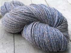 """Livid Denim"" American Raised & Spun       50% alpaca/30% merino wool/20% silk, 2 ply fingering wt., 400 yds, 4.4oz/125g"