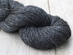 """Obsidian""    80% alpaca/20% silk, 2 ply fingering wt., 400 yds, 4.4oz/125g"