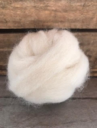 100% Alpaca Roving Available in White, Fawn, and Grey