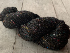 """Galaxy"" American Raised and Spun, 60% alpaca/30% merino/10% sari silk, 2 ply sport weight, 200 yards, 3.1 oz/88 gms"