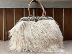 Maude - Natural faux-llama handbag