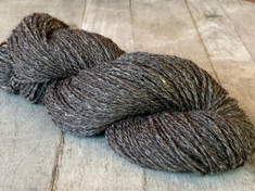 Limited Edition Shorn by Tabbethia,  Naturally Colored - Heathered Black/Brown,  American Raised, 75% llama/25% US Merino, 2 ply sport weight, 200 yds, 3.7 oz/105 gms