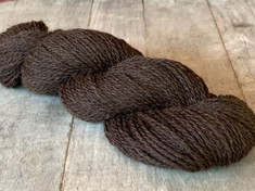 Limited Edition Shorn by Tabbethia, Naturally Colored - Rich Brown/Black, American Raised and Spun, 65%llama/20% US Merino/15% Bamboo, 2 ply sport weight, 200 yds, 4.0 oz/113 gms