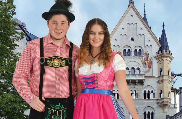 08a57bc6f German Dirndl Lederhosen Bavarian Clothing Oktoberfest Souvenirs German  Lederhosen Costume Sc 1 Th 182