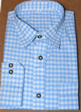 checkered shirt blue BT-LIGHT BLUE poly/cotton