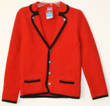 Girls Red Trachten Sweater/Jacket