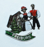 HP8800 Black Forest Couple Hat Pin FREIBURG