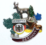 HP8334 Deer with Germany shield hat pin GERMANY