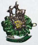 HP8482  Antelope w/flowers hat pin ULM