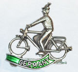 HP8808G Bicyclist Hat Pin GERMANY