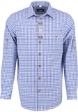 Blue Checkered Shirt w/design (SH-236MB)