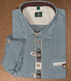 Green check with edelweiss design Shirt (SH-251)