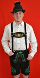 Black Cow Lederhosen (LEDBLK3-100) with suspenders