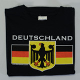 Deutschland Eagle Black T-Shirt (DEUTEAG-BLK) Adult Screenprinted