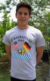 Oktoberfest Gray T-Shirt (2FLAGS-OKT)