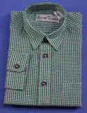 Boy's Green Checkered Shirt(SH501GREEN-BOY)