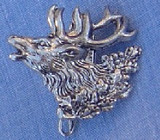 HP8490 Elk Hat Pin