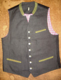 VIntange Black/Dark Brown Linen Vest
