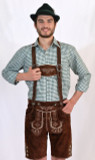 Lederhosen Dark Brown (BT-Bergen) with suspenders