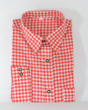 Red Checkered Shirt (SHBT-Red)  65poly/35cotton SPECIAL