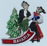HP8303 German Dancers hat pin BAVARIA