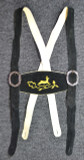 Black Suspenders Gold Deer Embroidery  SPECIAL