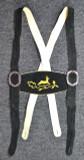 Black Suspenders Gold Deer Embroidery  SPECIAL