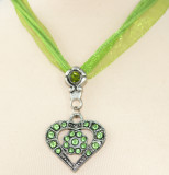 (JN603) Heart with stones assorted colors