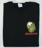 PROST! (Back)  OKTOBERFEST (Front) Adult T-Shirt Screenprinted