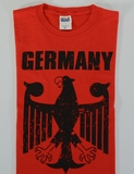 Germany Eagle YOUTH Red T-shirt Screenprinted