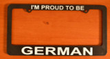 "License Plate Frame ""Proud German"""