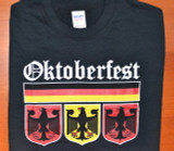 Oktoberfest 3 Eagle Black T-Shirt Adult Screenprinted