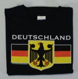Deutschland Eagle YOUTH Black T-shirt Screenprinted