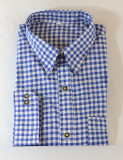 checkered shirt blue BT-BLUE poly/cotton