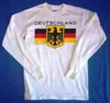 Deutschland White Long Sleeve T (DEUTWHTLONG)
