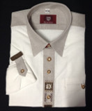 White 2-tone with design Shirt (SH-215SG)  **JUST ARRIVED**