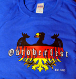 Oktoberfest Eagle Royal Blue T-shirt (OKT-BLUE-EAGLEB/R/G) Adult Screenprinted