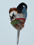 "Colorful Feather w/curl  3.75"" (FEA607)"