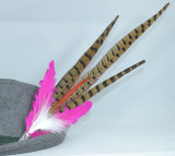 Colorful Feather Pheasant w/Pink (FEA299) 17""