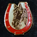 Fashion Pin - Horseshoe Horse (FPHorseshoeHorse)