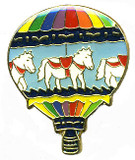 Fashion Pin - Hot Air Balloon (FPHOTAIRBALLOON)