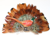 Feather Pin with pheasant emblem  (FEA700)