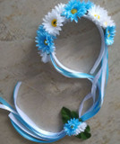 Oktoberfest Hair Garland (GAR-1008) blue/white